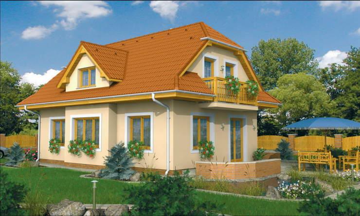 Montažne kuće KućaMont Beograd Srbija - Montazna kuca elegant 99 - izgled, os...